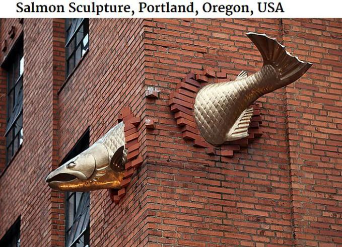 Fish sculpture oregon