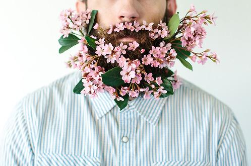 Flower in beard