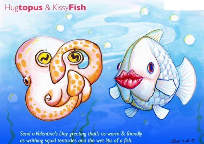 Hugtopus and Kissyfish