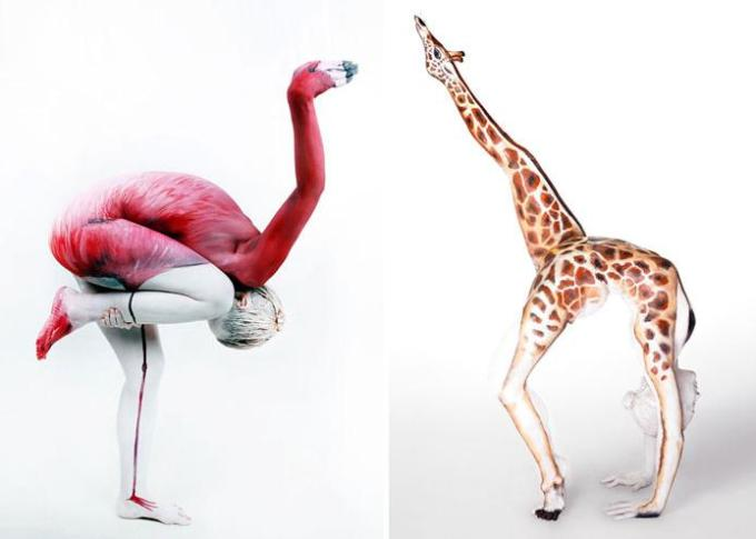 Human painted as animal