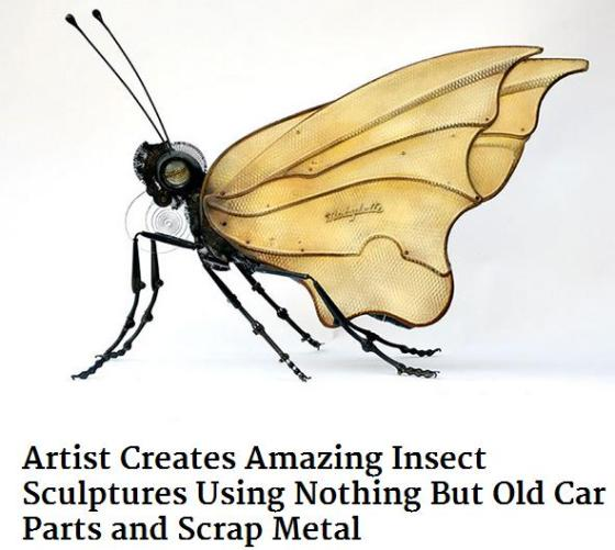 Insect sculpture