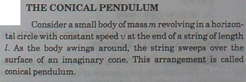 11h Conical pendulum