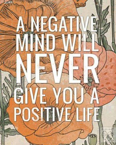 12a Negative mind will not give positive life