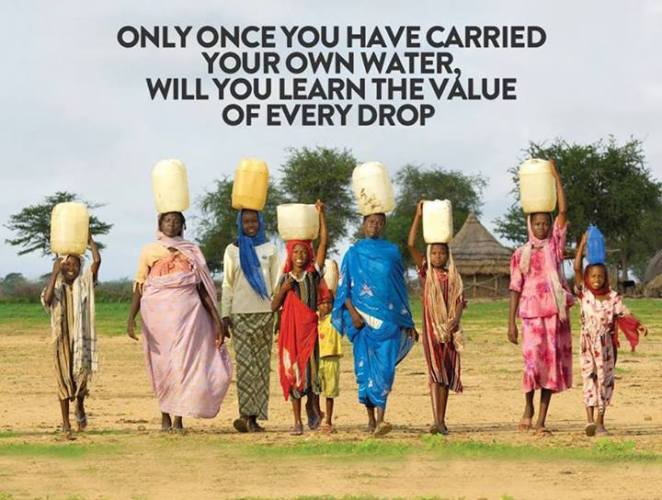 13i carry your own water you will value every drop