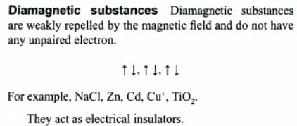 1a Diamagnetic Substances