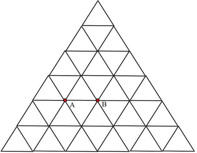 1b Infinite Triangular mess grid of resistance or impedence