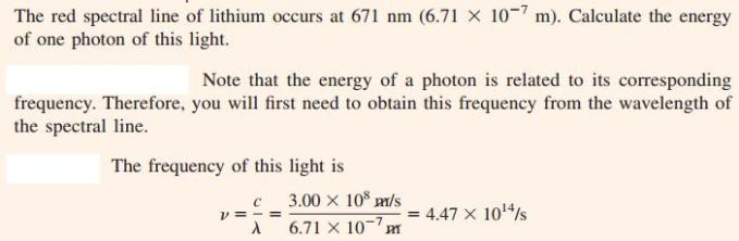 20 Energy of a photon