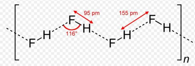 24 Hydrogenbonds in HF