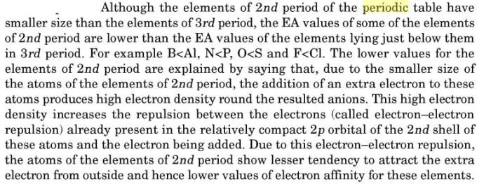 25 abnormal values of electron affinities