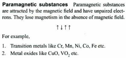2a Paramagnetic substances