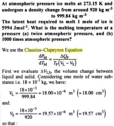 30g Clausius Clapeyron Equation