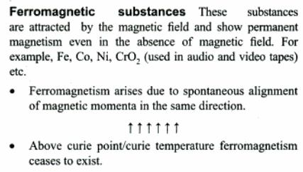 3a Ferromagnetic Substances