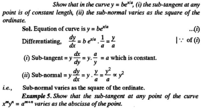 41g Subtangent Subnormal description