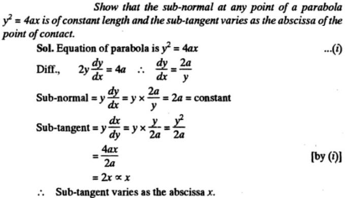 41t Subtangent Subnormal description