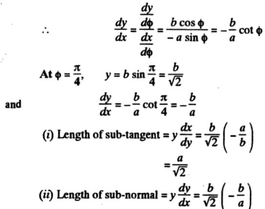 41v Subtangent Subnormal description