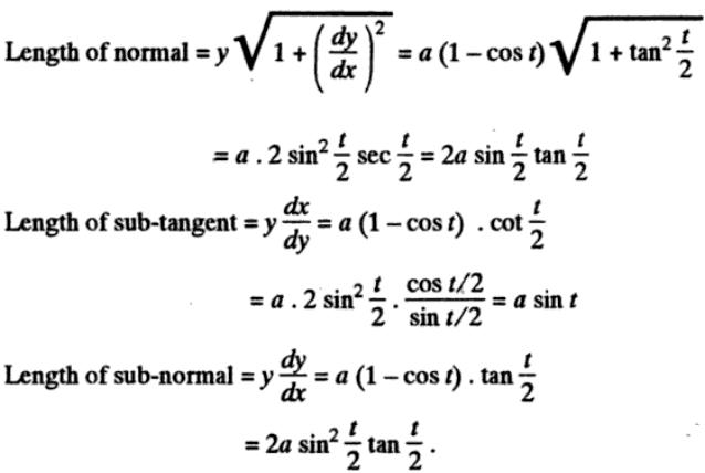 41y Subtangent Subnormal description