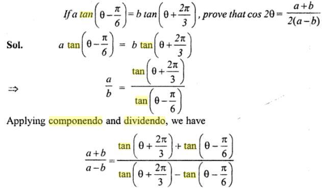 42a Componendo Dividendo Trigonometry