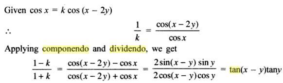 43a Componendo Dividendo Trigonometry