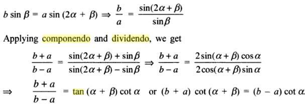 45a Componendo Dividendo Trigonometry
