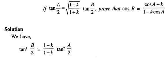 49a Componendo Dividendo Trigonometry