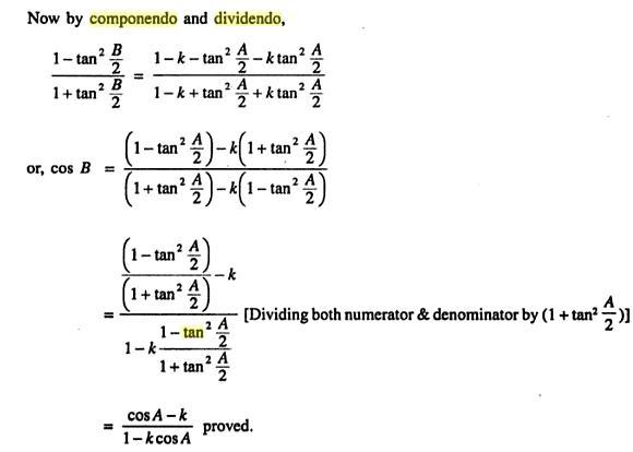 49b Componendo Dividendo Trigonometry