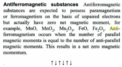 4a Antiferromagnetic substances