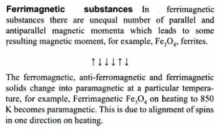 5a Ferrimagnetic substances