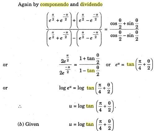61c Componendo Dividendo Hyperbolic