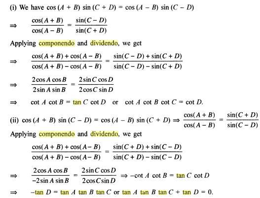 62b Componendo Dividendo Trigonometry