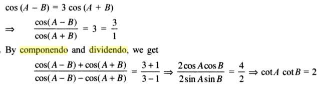 64a Componendo Dividendo Trigonometry