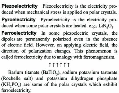 6a Piezoelectricity Pyroelectricity Ferroelectricity