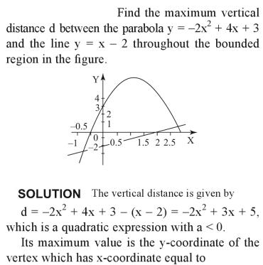 32a Find the maximum distance between a parabola and line