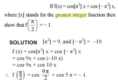 32a Greatest integer function problem example