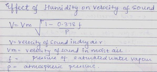 33a Effect of Humidity on velocity of sound