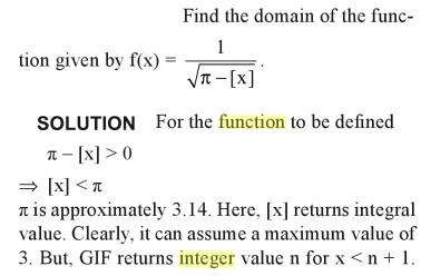 34a Greatest integer function problem example