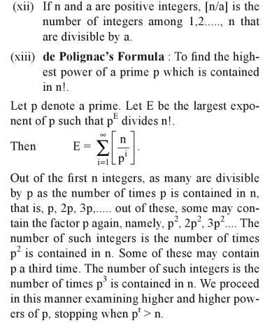 35c Properties de Polignac's Formula