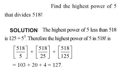 36a Find the highest power of 5
