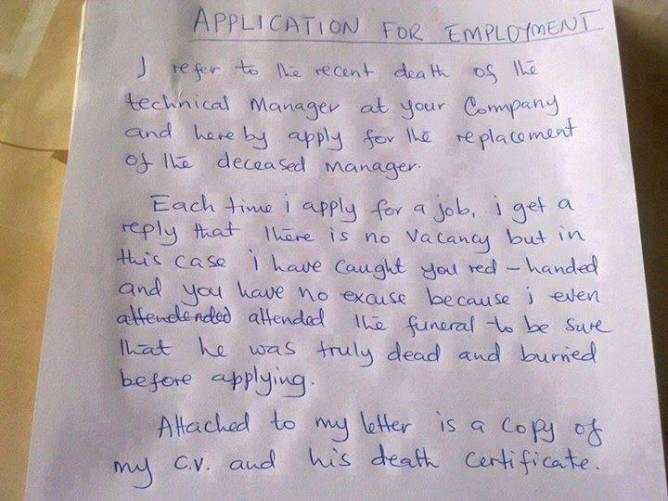 51d Applying for Managers position