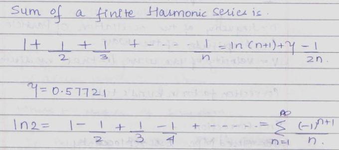 52c Sum of finite Harmonic series