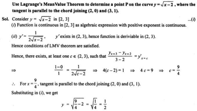 57a Lagranges Mean value theorem
