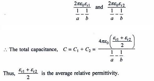 47c spherical capacitor average permmittivity