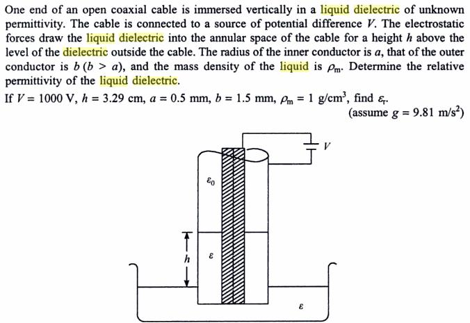 51a liquid climb in cylindrical capacitor