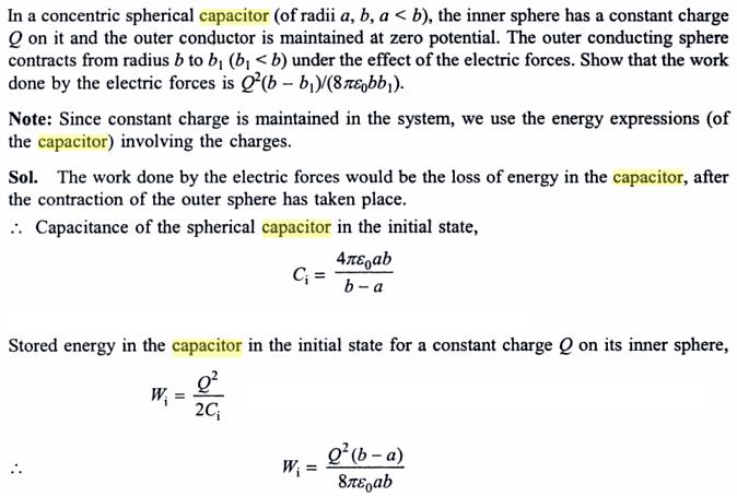 52a concentric sphere capacitors
