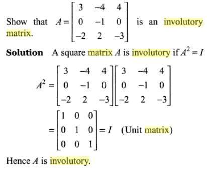 31b involutory Matrix