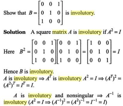 31c involutory Matrix