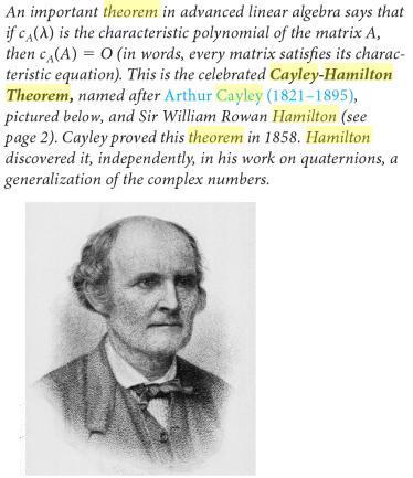 47a Cayle Hamilton Theorem