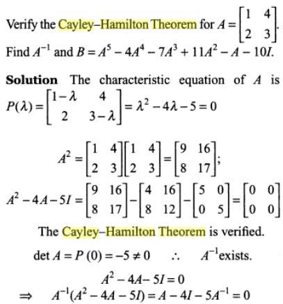 47c Cayle Hamilton Theorem