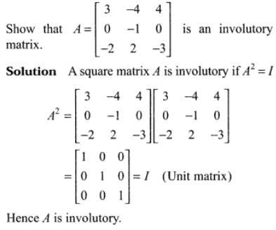 47q Involutory Matrix