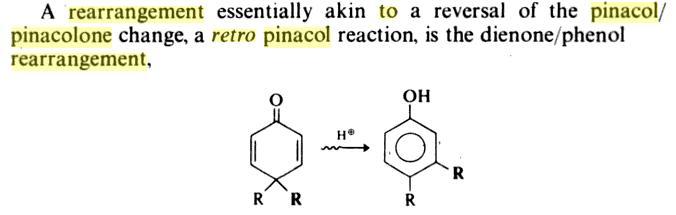62c Retropinacol Rearrangement