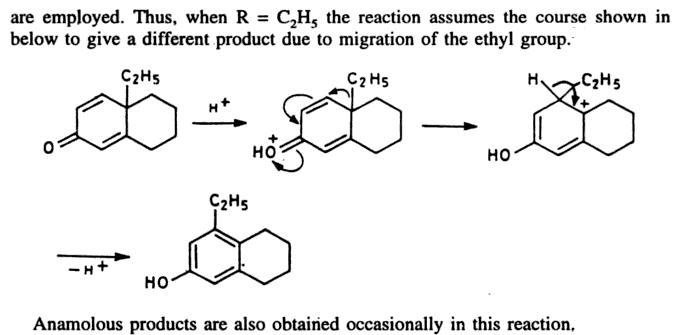 64c Dienone Phenol retropinacol rearrangement
